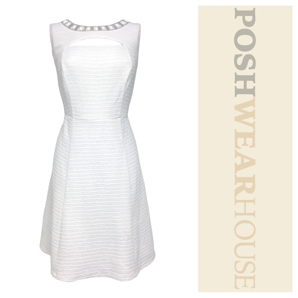 ace48be2f6 White Gem Collar A-Line Dress. Listing Price   29.00